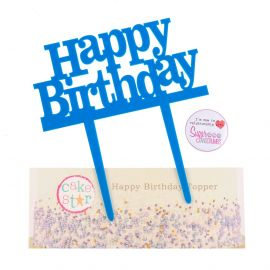 Cake Star Cake Topper Happy Birthday Blue