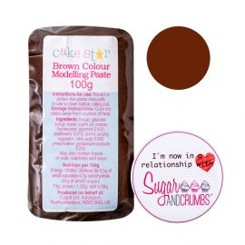 Cake Star Modelling Paste BROWN 100g