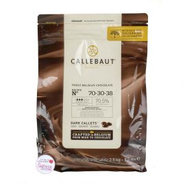 Callebaut FINEST BELGIAN DARK CHOCOLATE Recipe N°70-30-38 2.5Kg