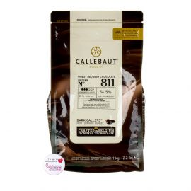 Callebaut Recipe N° 811 Belgium DARK CHOCOLATE 1Kg