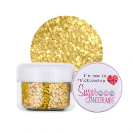 CK Products Glitter Squares Metallic Gold 7g