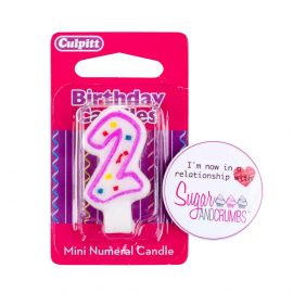 Culpitt Mini Pink Birthday Candle NUMBER 2