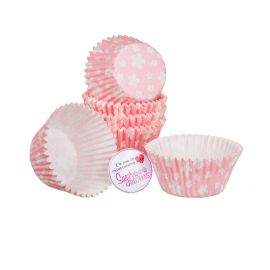Cake Star Cupcake Cases PINK BLOSSOM Pack of 54
