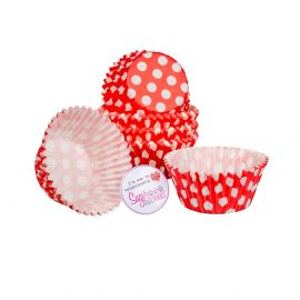 Cake Star Cupcake Cases RED SPOT Pack of 54