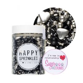 Happy Sprinkles BLACK PEARL Edible Sprinkles 90g.1
