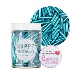 Happy Sprinkles Blue Rods Edible Sprinkles 90g.a