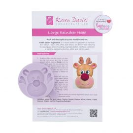 Karen Davies Silicone Mould LARGE Reindeer Head