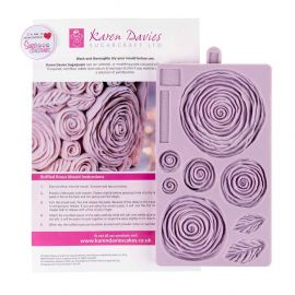 Karen Davies Silicone Mould Ruffled Rose