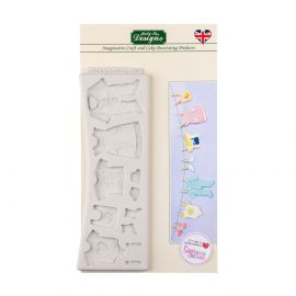 Katy Sue Silicone Mould BABY CLOTHES WASHING LINE