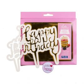 PME Cake Topper Cutter Script HAPPY BIRTHDAY