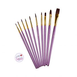 Brushes Cake Art Set PURPLE Pack of 10