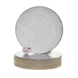 Cake Card Cut Edge ROUND 08 Inch Pack of 25