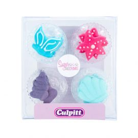 Culpitt Sugar Pipings MERMAID Pack of 12