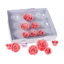 SugarSoft 12 Edible Assorted PINK Roses