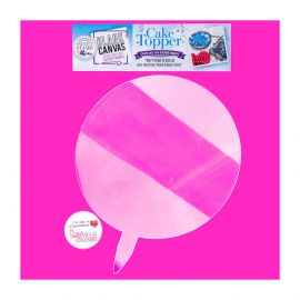 Sweet Stamp Blank Canvas Cake Topper CIRCLE