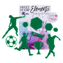 Sweet Stamp Elements Score Soccer Football