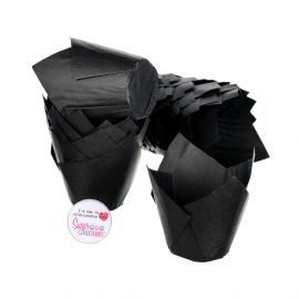 Tulip Muffin Wraps BLACK Pack of 50